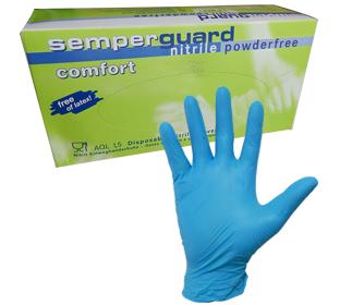 Guante Nitrilo Semperguard Azul x 100 – Para Manejo Alimentos – Quimicos Etc.