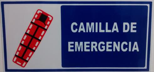 Señalización Camilla De Emergencia