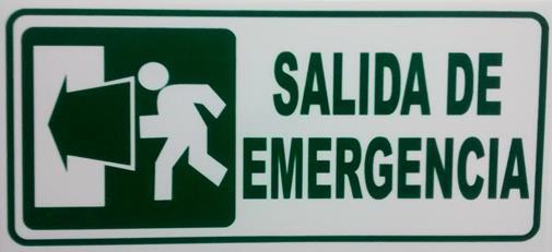 Señalización Salida De Emergencia A La Izquierda