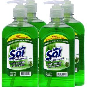 Jabon Líquido Para Manos Aloe X 4 Uds