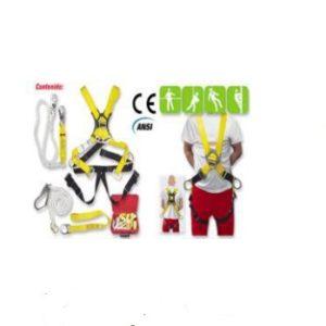 Kit Para Alturas Con Arnés Y Eslinga De Seguridad