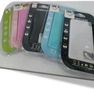 Cargador Power Bank 2200 mAh Portable de colores Verde – Rosado – Negro – Azul – Negro