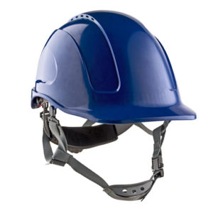 CASCO DIELÉCTRICO NARA CON CORREA  COLOR AZUL