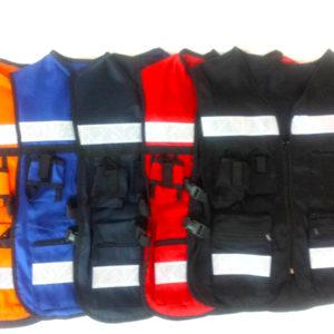 Chaleco para brigadista Multicolor Con Estampado En La Espalda